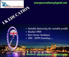 Study in UK Contact - Sowrya Consultancy www.sowrya.com