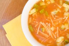 Sopa de FIdeo (Mexican Noodle Soup). A vegan recipe.