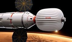 Artists impression of the inflatable module proposed for the Inspiration Mars Mission.