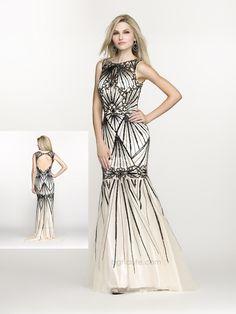 BG Haute Spring/Prom style #G3310 Ivory/Black. www.bghaute.com  #prom2014