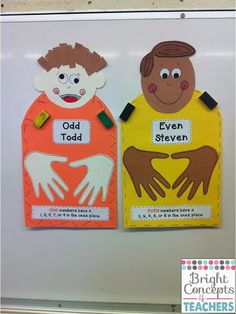 Bright Concepts 4 Teachers: Lesson Plans and Teaching Strategies: Odd Todd and Even Steven Have Arrived!!!