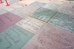 Handprints outside the TCL Chinese Theatre in Hollywood