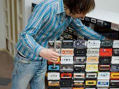 Mobilier design / Mobilier recycl recycler les cassettes