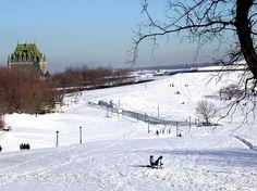 La ville de Québec sous la neige.
