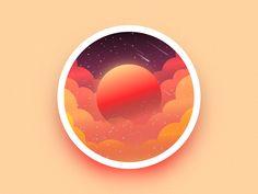 Space Mars badge by Julien #Design Popular #Dribbble #shots