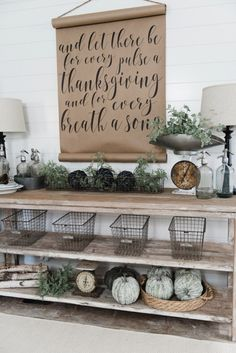 DIY Farmhouse Dining Room buffet - Could be a great TV console, sofa table, entryway table, kitchen island, & so much more! Great tutorial and farmhouse style decor inspiration! Love the farmhouse scroll! Farmhouse Style Decorating, Farmhouse Decor, Farmhouse Buffet, Decorating Ideas, Modern Farmhouse, Wand Organizer, Dining Room Buffet, Dining Sofa, Arquitetura