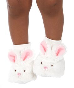 a25ef00185c4 White  amp  Pink Bunny Booties by GANZ  bunny  slippers