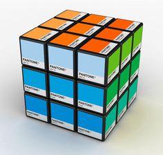 Rubiks Cube of #Pantone colors.
