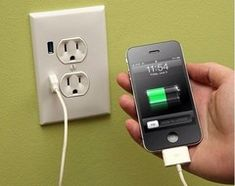 wall outlet with built-in iPhone charging
