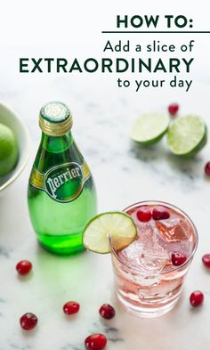 By adding Perrier, you can take the ordinary and make it anything but. Add it to your favorite cocktail to liven up a classic, or just drink it as it is to give your day a little extra fizz. Check out perrier.com for more ways to add a little extraordinary to your life. 21+