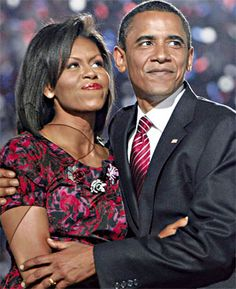 Barack and Michelle Obama. President and First Lady