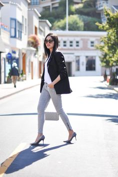 9 to 5 Chic: Black, White, and Grey