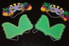 Mardi Gras Masks and wings... A+ adorable