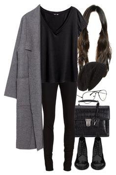 """Untitled #8374"" by nikka-phillips ❤ liked on Polyvore featuring Yves Saint Laurent, rag & bone/JEAN, David & Young, H&M and Zara"