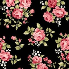 Black Flannel Large Floral Flannel F8360M J by Maywood Studio Welcome Home Flannel Jennifer Bosworth