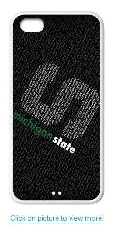 Accurate Store NCAA's Division I-A Michigan State Spartans logo Iphone 5C TPU Case Cover