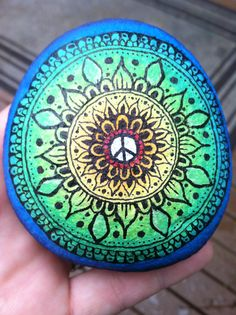 I painted this mandala for a friend. I am really pleased with how it turned out!