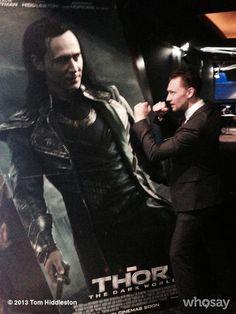 What you lookin' at, big guy? #Loki #ThorDarkWorld