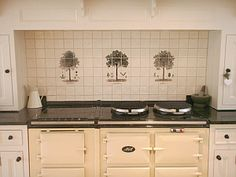 fired earth tiles aga - Google Search Kitchen Wall Tiles, Kitchen Cabinets, Kitchen Appliances, Fired Earth, Splashback, Aga, Kitchen Design, Kitchen Ideas, Double Vanity