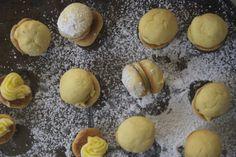 citrus mexican wedding cookies — vermilion red Vermilion Red, Mexican Wedding Cookies, Pretzel Bites, Hamburger, Bread, Food, Brot, Essen, Baking