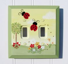 Ladybugs Custom Switch Plate or Outlet Cover (Several Sizes Available)