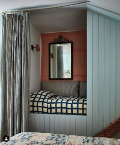 New York Times, Bed Nook, Bedroom Nook, Alcove Bed, Kids Bedroom, Closet Nook, Home Interior, Interior Design, Kitchens