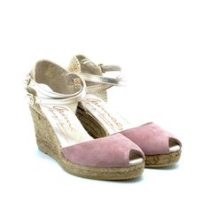 GAIMO Espadrilles Grisa Suede Mid Wedges | Spanish Espadrilles | Spanish Fashion - SPANISH SHOP ONLINE | Spain @ your fingertips