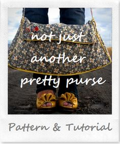 Large purse, perfect for the toddler-stage diaper bag, or just for anything.  PDF download.