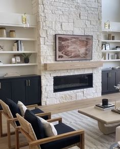 Living Room Built Ins, New Living Room, Home And Living, Living Room Decor, Home Fireplace, Fireplace Design, Fireplace Ideas, Home Renovation, Home Remodeling