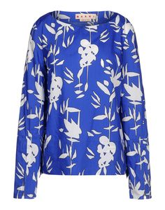 Marni Blue Floral Top - Summer style is in full bloom with this Audrey Hepburn-inspired look. http://shop.harpersbazaar.com/blog/how-bazaar-in-full-bloom