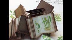 how to make miniature books - YouTube