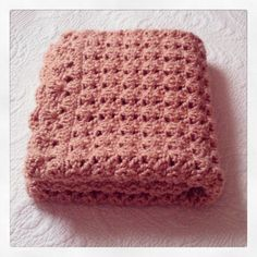 Pale Peach Crochet Baby Girl Blanket Crib by kristinsknittins, $68.00