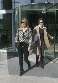 Kate Middleton and her mother Carole Middleton leaving their hotel in Dublin, Ireland, April 4, 2007.