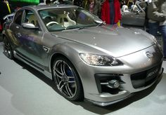 The Mazda RX-8, a sports car powered by a Wankel engine