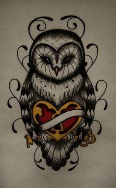 Owl tattoo design.