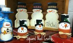 Snowman collection www.facebook.com/squarenailcrafts
