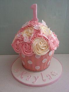 Giant Cupcake - by BlissfulCakeCreations @ CakesDecor.com - cake decorating website