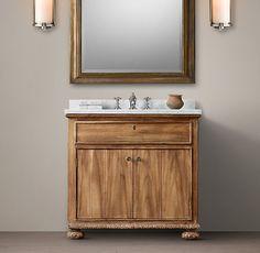 French Empire Single Vanity Sink