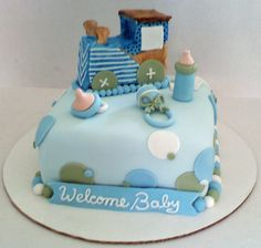 Train Baby Shower Cake