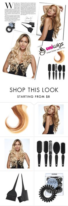 """Uniwigs 1."" by vicky-1314 ❤ liked on Polyvore featuring beauty, Invisibobble, hair, hairstyle, wigs and uniwigs"