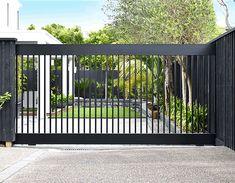 Front Gates, Front Fence, Free House Plans, Farm Gate, Las Mercedes, Sliding Gate, Automatic Gate, Driveway Gate, Real Estate Investing