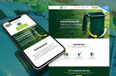 One Page Junk Removal Website Template  #junkremoval #webdesign #onepagewebsite #landingpage