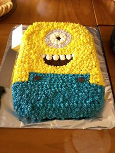 A minion cake. I ate the eye.