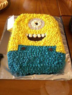 A minion cake. I ate the eye.
