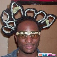 Most Ghetto Hairstyle Ever! Does That Say Obama? the masking tape makes it better