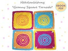 Granny Square Tornado ~ Häkelanleitung PDF- needs translation, paid pattern