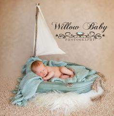 Sailboat newborn photo