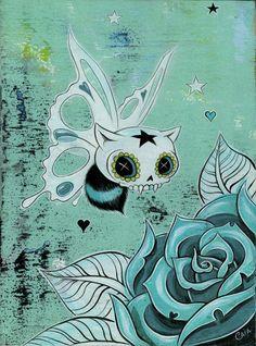 Rose & Butterfly skull - Caia Koopman <3