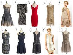 robe-charleston moderne inspirée années folles Gatsby Magnifique