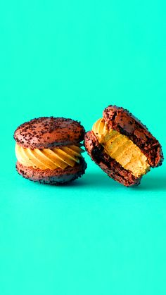 Get your pumpkin fix in macaron form with chocolate macarons topped with cookie crumb sprinkles and a pumpkin spice filling. Get your pumpkin fix in macaron form with chocolate macarons topped with cookie crumb sprinkles and a pumpkin spice filling. Best Pumpkin Pie, Vegan Pumpkin Pie, Homemade Pumpkin Pie, Pumpkin Pie Bars, Pumpkin Pie Recipes, Pumpkin Spice, Pumpkin Pumpkin, Turkey Recipes, Köstliche Desserts